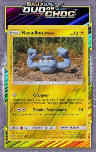 Racaillou d/'Alola Reverse SL09:Duo De Choc-35//181-Carte Pokemon Neuve Française