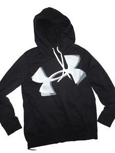 5fd89e12 Under Armour women's Favorite Fleece Black Exploded Logo Hoodie ...