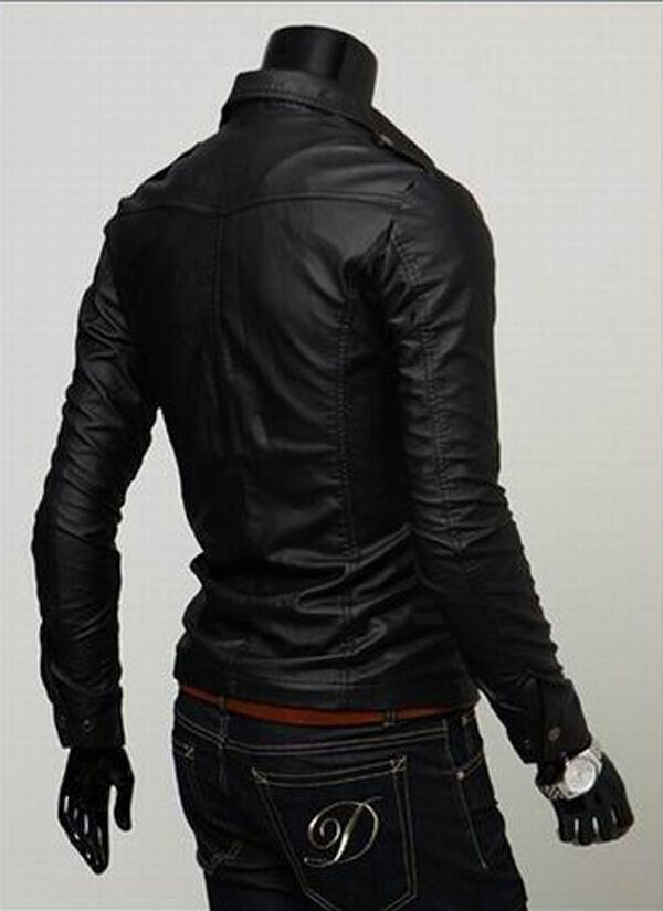 Giacca Giubbotto in Pelle Uomo     Leather Jacket Veste Blouson Homme Cuir N14a 1f1133