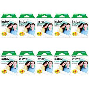 10 Packs 200 Instant Photos FujiFilm Instax SQUARE Film Polaroid Camera For SQ10