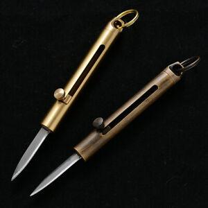 Mini-Folding-Retractable-Pocket-Knife-Outdoor-Survival-Tool-Portable-Brass