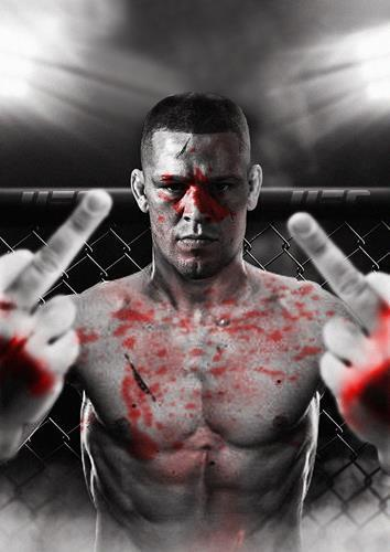 NATE DIAZ POSTER v Conor McGregor UFC 196 Wall Art Print Picture Photo A3 A4
