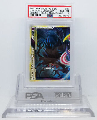 Pokemon HGSS TRIUMPHANT DARKRAI /& CRESSELIA LEGEND TOP #99 HOLO PSA 8 NM-MT #*