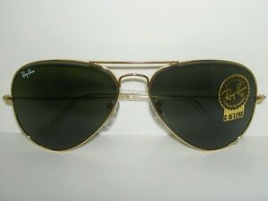 26d717cae8 New RAY BAN Sunglasses AVIATOR Large Metal II Gold Frame RB ...
