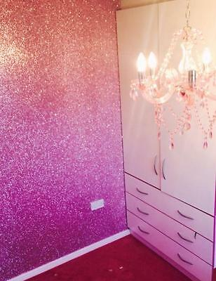 *SAMPLE* Large Glitter Flake Fabric Wallpaper Black, Gold, Pink, Silver & Grey