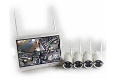 Kit videosorveglianza IP WIFI con 4 telecamere 720P 1 Mpx e monitor 12 pollici