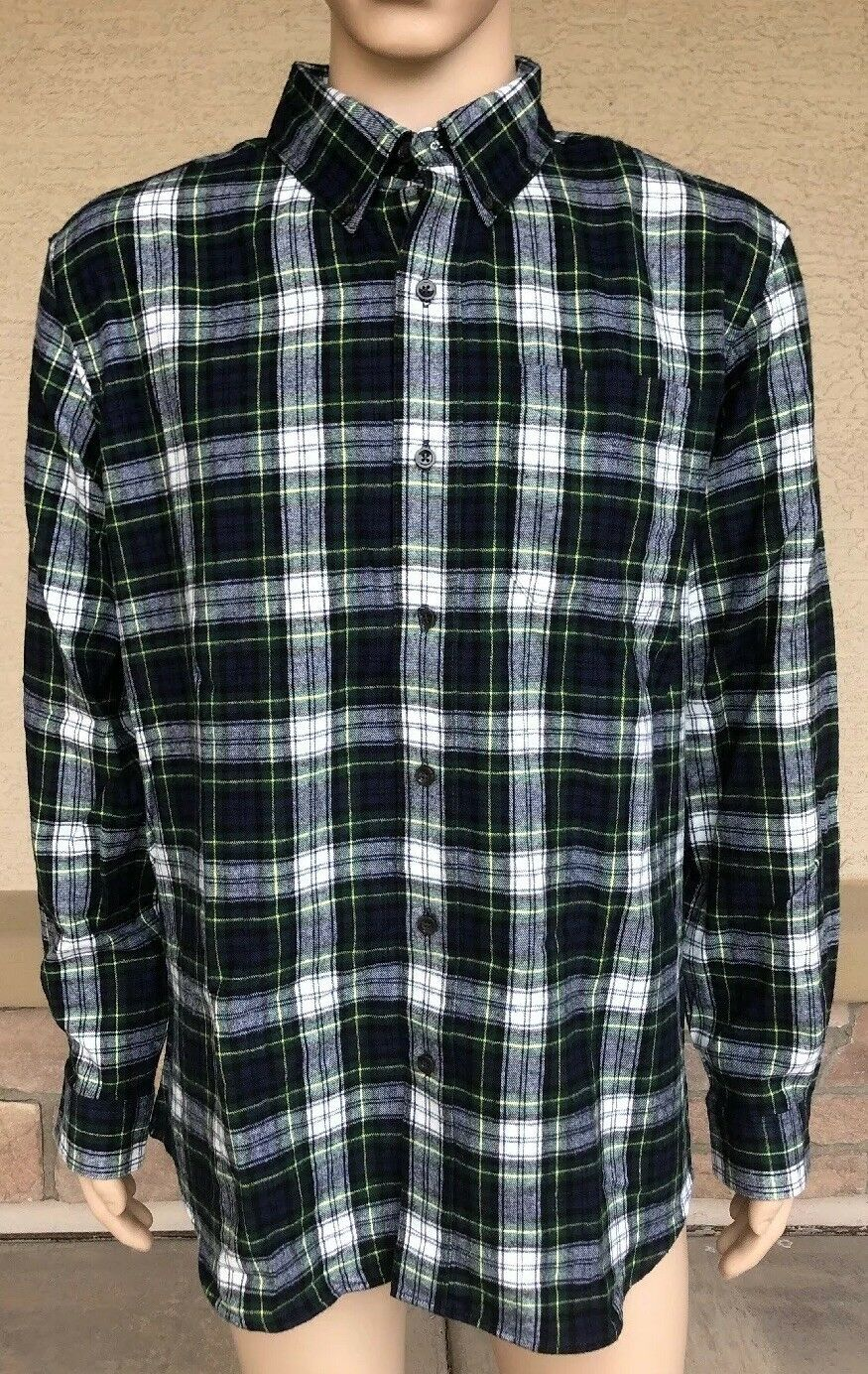 ca6ce36dd6f Vintage L.L. Bean Plaid Tartan Button Down Polo Shirt Size Large Hipster  Lutdoor
