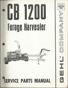 gehl cb1200 forage harvester parts manual