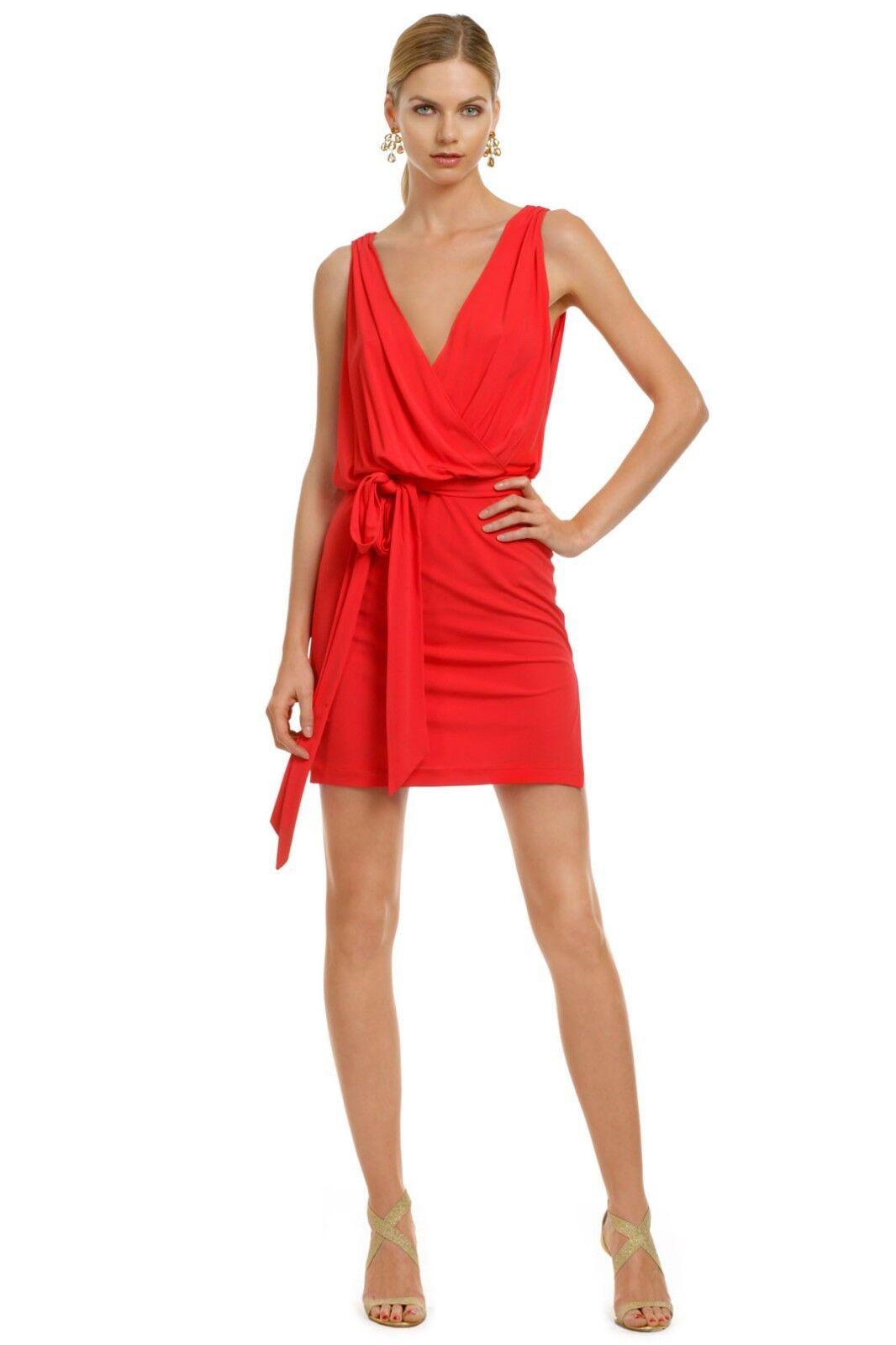 Haute Hippie Deep V Jersey Dress with self Belt Cocktail Club Dress  Größe L