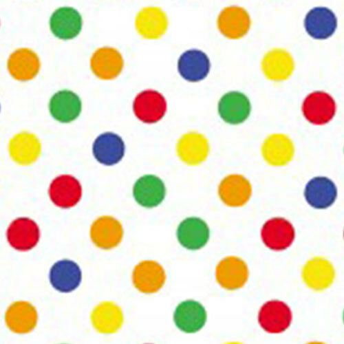 Dots Primary Print Tissue Paper Multi Listing 500x750mm