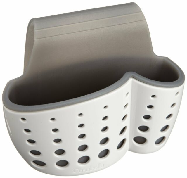 Casabella Sink Sider Faucet Sponge & Dish Brush Holder - Dish Washing Tool Caddy