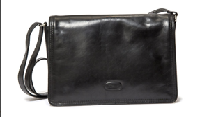 Hansson Bag Flapover Leather Black Classic New By tqCn0wY