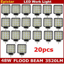 20X 48W Square LED Work Light Flood Lamp For Offroad Driving Truck Tractor Boat