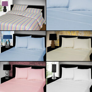 THERMAL-FLANNELETTE-FITTED-SHEET-BED-100-BRUSHED-COTTON-SINGLE-DOUBLE-KING-NEW