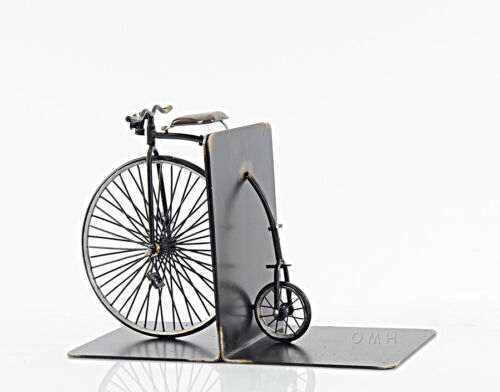 "1870 High Wheeler Penny Farthing Bicycle Metal Bookend Model 12/"" Cycling Decor"