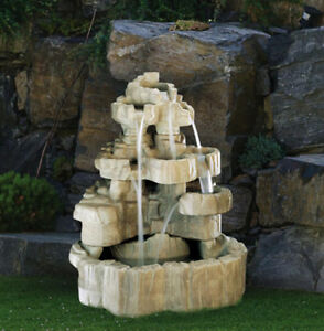 Image Is Loading 58 034 Large Rock Falls Fountain Outdoor Concrete
