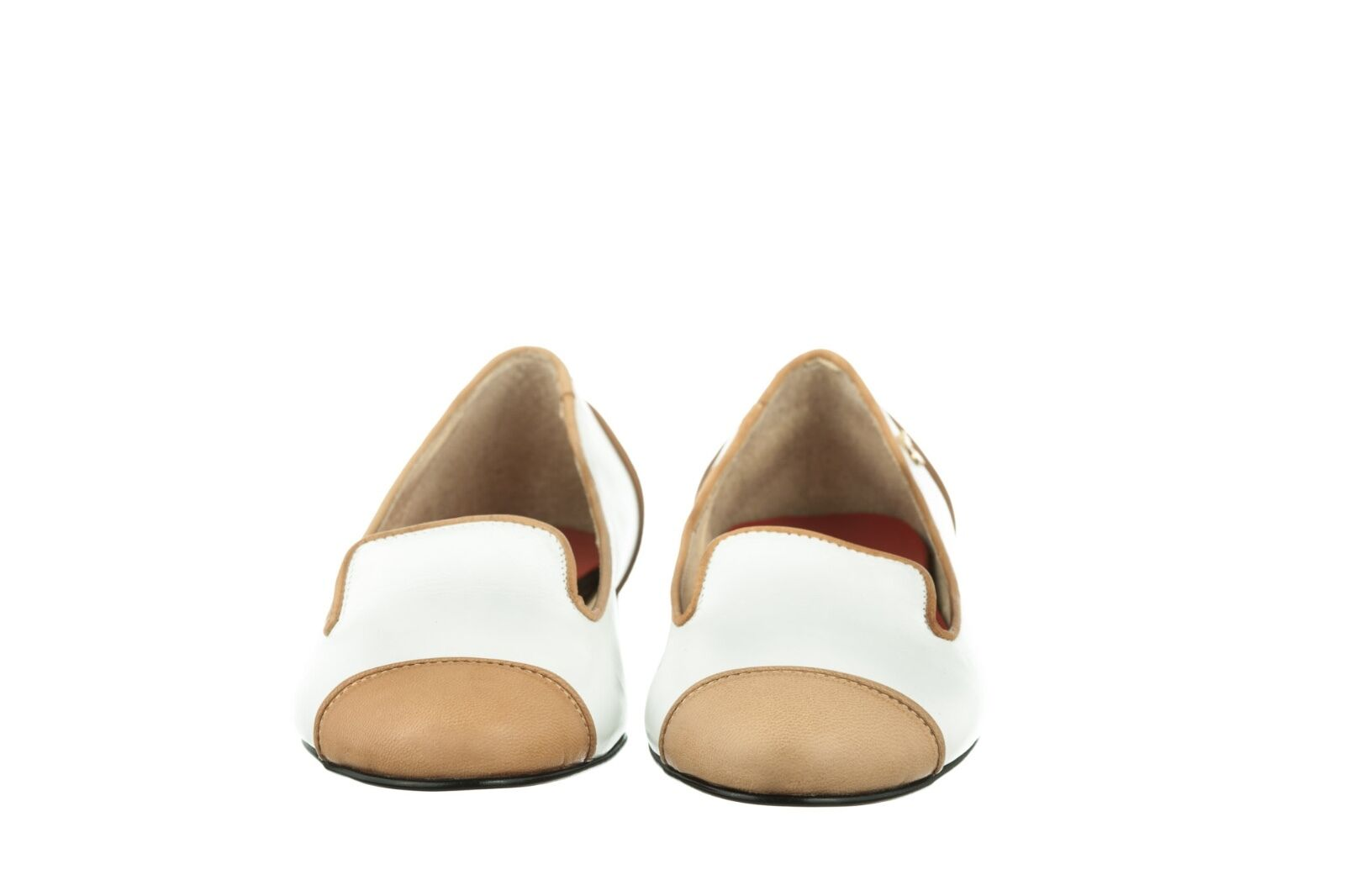 MORI MADE FLATS IN ITALY SLIP ON FLATS MADE SCHUHE SHOES BALLERINA LEATHER WHITE BIANCO 40 7ecd53