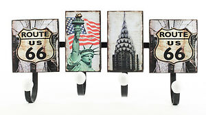 Perchero-de-metal-New-York-EE-UU-Route-66-America-Estatua-la-libertad-armario