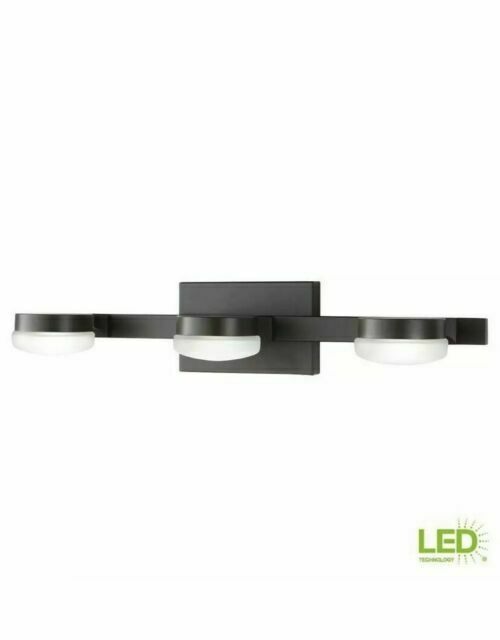 Home Decorators Collection Vanity Light Bath Etched Glass Oil Rubbed Bronze Led For Sale Online Ebay