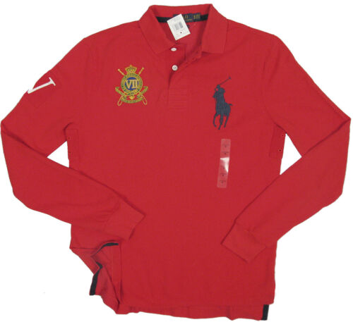 NEW Polo Ralph Lauren Riding Club Big Pony Polo Shirt Red or Yellow Custom Fit