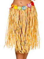 Adult Natural Hawaiian Summer Grass Fancy Dress Party Hula Skirt 60cm Long