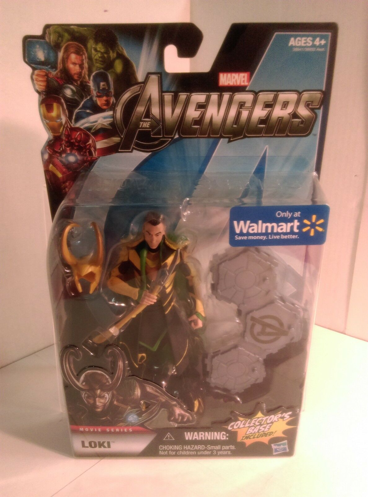 HASBRO The Avengers Movie Series LOKI - Wal-Mart EXCLUSIVE giallo VARIANT - NEW