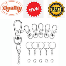 25 mm Wenxiaw Mini Snap Hook Keychain Swivel Clasps Alloy Keychain Lobster Detachable Swivel Clasps for The Production of Handbags Backpack DIY Craft Accessories Carrier Bags Silver 20 Pieces