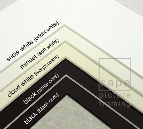 Pack of 1 Choose Size and Colour Single Picture Photo Mount