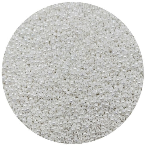 Lot of 2500pcs DIY 11//0 Rocaille 1.8mm Small Round Glass Seed Beads Milk white