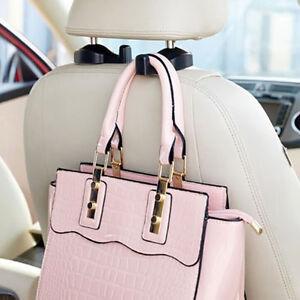 car headrest seat back hook hanger invisible bag coat holder hanging universal ebay. Black Bedroom Furniture Sets. Home Design Ideas