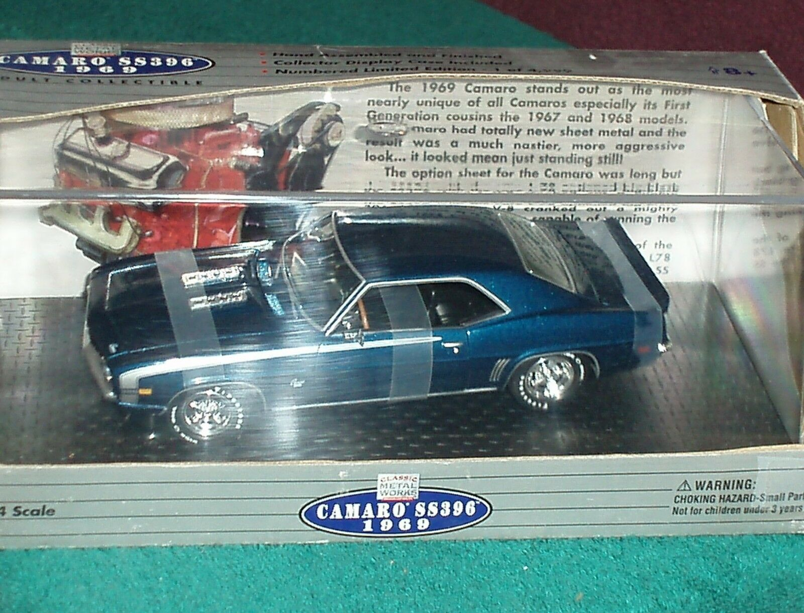 Classic Metal Works 1969 Chevy Camaro SS396 Hardtop W panDimensione caso 1 24