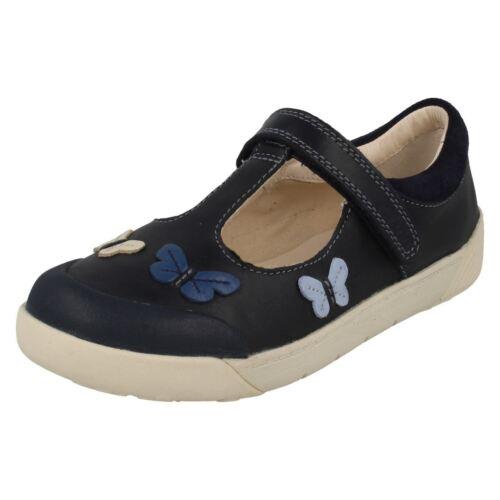 Lil Flo T Folk Clarks marino azul azul Zapatos bar niñas para 5xUwgxqt