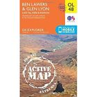 Ben Lawers & Glen Lyon, Loch Tay, Killin & Kenmore by Ordnance Survey (Sheet map, folded, 2015)