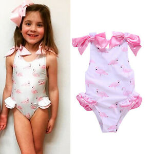 d5cf0238814 UK Toddler Kid Girls Swimwear One-piece Monokini Swimsuit ...