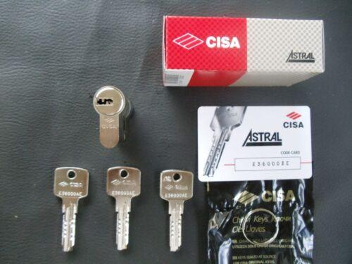 CISA EURO PROFILE SECURITY 60MM.CYLINDER BARREL DOOR LOCK WITH 3 KEYS !!!