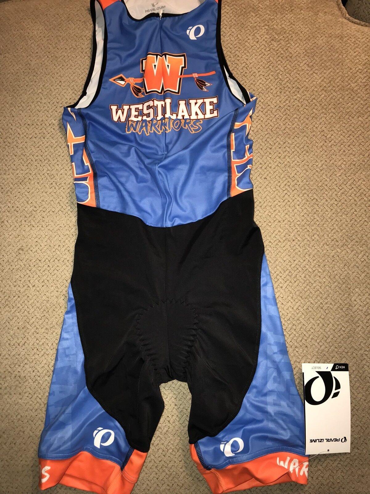 Men's Westlake Warriors Triathlon Skinsuit Singlet Speedsuit Medium M Cycling