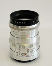 Meyer-Optik Gorlitz Trioplan F2.8 100mm lens (very rare Praktina mount)