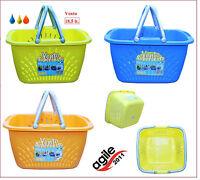 18,5 Liter Wäschewanne Wäschekorb Kunststoff Wäsche Wanne Korb Plastik Vento