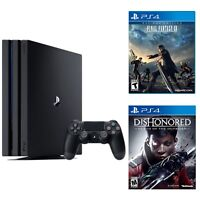 Sony PlayStation 4 Pro 1TB Gaming Console + Dishonored Death for PS4 + Final Fantasy XV for PS4