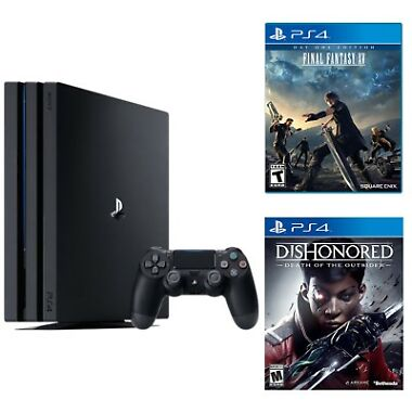 Sony PlayStation 4 Pro 1TB Gaming Console + 2 PS4 Games