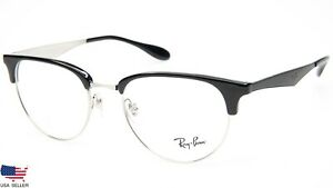 ee37972071 NEW Ray Ban RB6396 2932 TOP BLACK On SILVER EYEGLASSES GLASSES RB ...