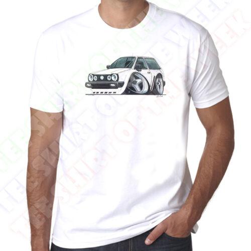 WickedArtz Cartoon Car White Polo MK2B Mens 100/% Cotton White T-Shirt