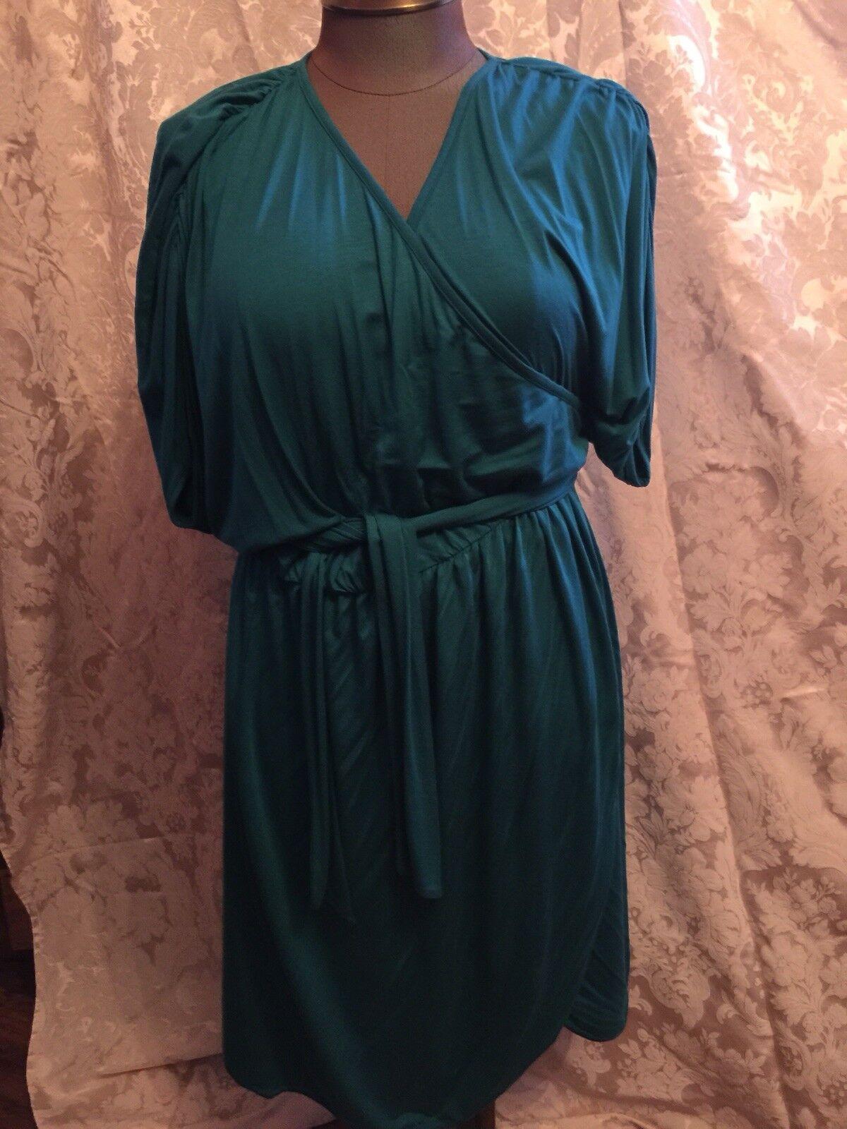 Rachel pally 2x Teal wraparound dress