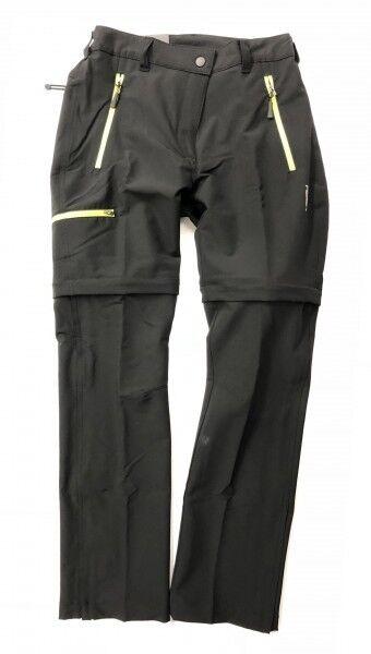 HS Hot Sportswear Damen Trekkinghose Abtenau Abzipphose Kurzgröße Schwarz Neu