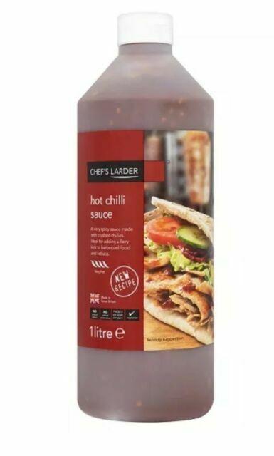 Download 1l Chefs Larder Hot Chilli Sauce Kebab Chips Burger Bottle Takeaway Shop Chippy For Sale Online Ebay PSD Mockup Templates