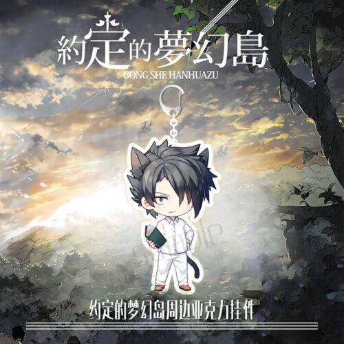 Anime Yakusoku no Neverland The Promised Neverland Emma Norman Ray Keychain Prop