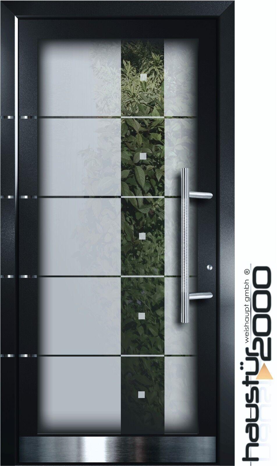 HAUSTÜR2000® Aluminium Haustür Ganzglasfüllung Alu Tür n. Maß Mod. HT 5332 GLA