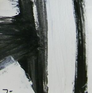 JOSE-TRUJILLO-Acrylic-Painting-6x6-034-Black-amp-White-Expressionism-ABSTRACT