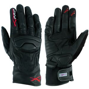 Summer-leather-sport-Padded-Gloves-Scooter-Motorcycle-Motorbike-Bikers-Black-M