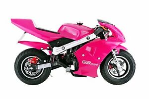 Mini Motorcycle For Kids >> Motorcycle For Kids Pink Pocket Bike Mini Gas Powered 40cc Ride On